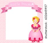 little princess background.... | Shutterstock . vector #632645957
