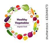 set of healthy vegetables  farm ... | Shutterstock .eps vector #632646473