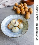 Small photo of Tropical fruit tree of the soapberry family member / Dimocarpus Longan Fruits / It's sweet,juicy and succulent and had many uses beside eaten raw when ripen. It can be canned,dried and in culinary use