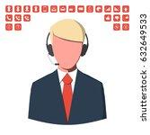 customer service operator with... | Shutterstock . vector #632649533