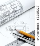 blueprint detail and drawing... | Shutterstock . vector #63265327