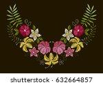 vector design for collar t... | Shutterstock .eps vector #632664857