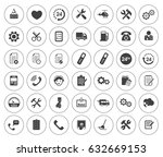service icons | Shutterstock .eps vector #632669153