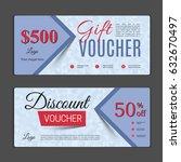 gift voucher template. can be... | Shutterstock .eps vector #632670497