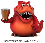 fun dinosaur   3d illustration | Shutterstock . vector #632672123