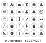 fashion icons | Shutterstock .eps vector #632674277