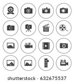 camera icons | Shutterstock .eps vector #632675537