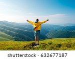 man in yellow raincoat  jeans... | Shutterstock . vector #632677187