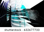 abstract dynamic interior with... | Shutterstock . vector #632677733