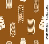 seamless pattern with springs... | Shutterstock .eps vector #632682353