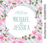 marriage invitation card with... | Shutterstock .eps vector #632685503