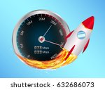 boost internet speed meter with ... | Shutterstock .eps vector #632686073