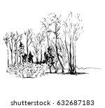 vector linear illustration of... | Shutterstock .eps vector #632687183