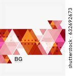 vector abstract colorful... | Shutterstock .eps vector #632692673