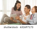 asian young people laughing...   Shutterstock . vector #632697173