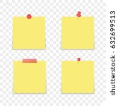 isolated sticky note on... | Shutterstock .eps vector #632699513