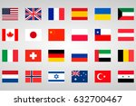 26 national flags | Shutterstock .eps vector #632700467
