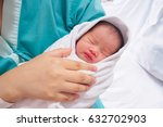 happy mother and newborn baby... | Shutterstock . vector #632702903