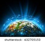 best internet concept of global ... | Shutterstock . vector #632705153
