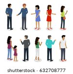 set of customers and sellers... | Shutterstock . vector #632708777