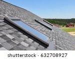 attic skylight. asphalt... | Shutterstock . vector #632708927
