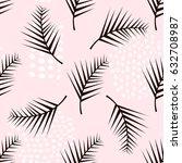 palm branch trendy seamless... | Shutterstock .eps vector #632708987