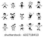 doodle kids icons | Shutterstock .eps vector #632718413