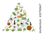 medicinal cannabis recreational ... | Shutterstock .eps vector #632740667