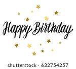 happy birthday typographic... | Shutterstock .eps vector #632754257
