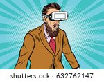 shocked hipsters in vr glasses.