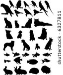 36 Vector Silhouettes Of...