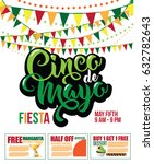 cinco de mayo coupon... | Shutterstock . vector #632782643