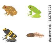 frogs vector icons   Shutterstock .eps vector #632789723