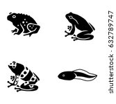 frogs vector icons | Shutterstock .eps vector #632789747