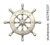 steering wheel. vector... | Shutterstock .eps vector #632795237