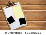 clipboard on table. | Shutterstock . vector #632800313