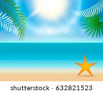 the tropical landscape is the... | Shutterstock .eps vector #632821523