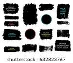 set of black paint  ink brush... | Shutterstock .eps vector #632823767