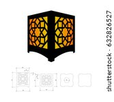 cut out template for lamp ... | Shutterstock .eps vector #632826527