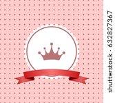 girl baby shower invitation... | Shutterstock .eps vector #632827367
