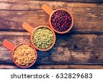 yellow peas  green peas and... | Shutterstock . vector #632829683