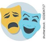mask vector icon | Shutterstock .eps vector #632834717