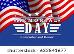 memorial day background with... | Shutterstock .eps vector #632841677
