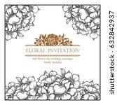romantic invitation. wedding ... | Shutterstock . vector #632842937