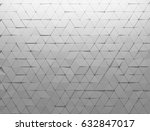 white shaded abstract geometric ... | Shutterstock . vector #632847017