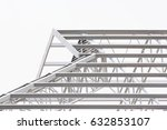 grey steel structure of roof ...   Shutterstock . vector #632853107