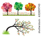 colorful of tree vector... | Shutterstock .eps vector #632859743