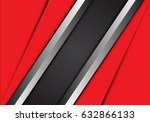 abstract gray silver banner and ... | Shutterstock .eps vector #632866133