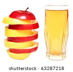 apple juice in glass and fresh... | Shutterstock . vector #63287218