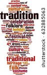 tradition word cloud concept.... | Shutterstock .eps vector #632885063